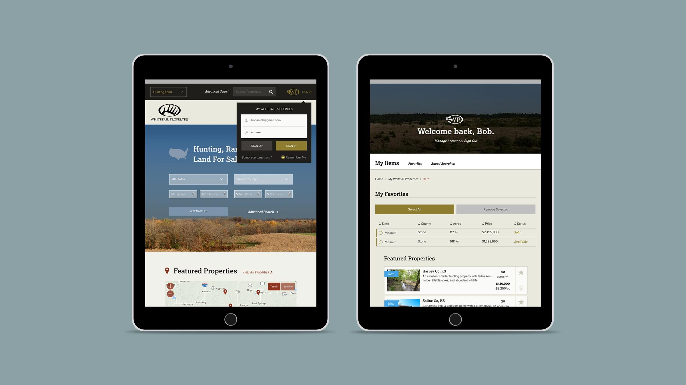 Whitetail Ipad Account