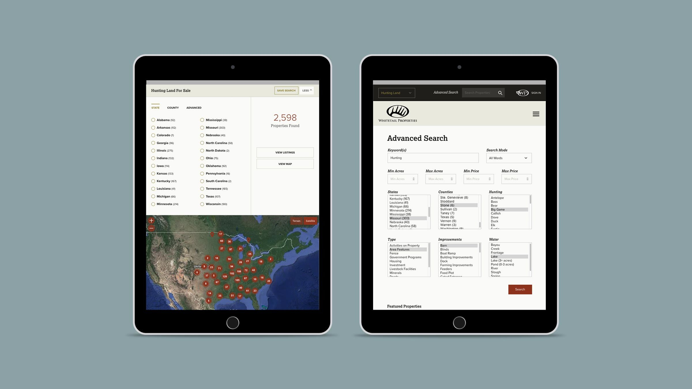 Whitetail Ipad Search